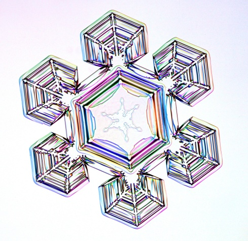 un copo de nieve
