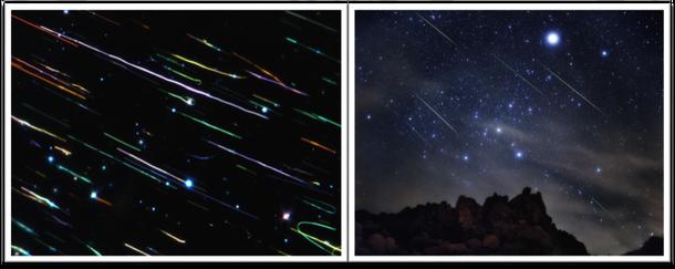 Nanocables de telurio y lluvia de meteoros