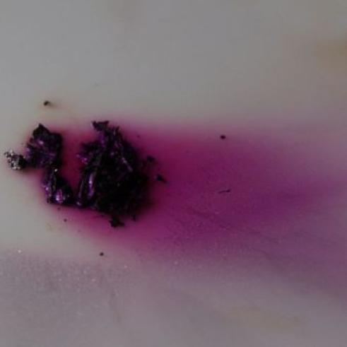 cristales de yodo